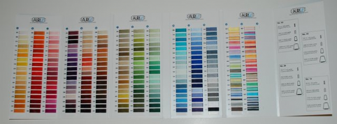 Aurifil Cottons Shade Card - Real Thread Wraps